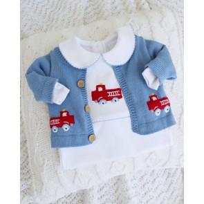 Little English, Fire Truck Crochet Sweater