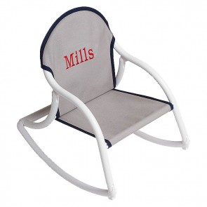Gray Navy Canvas, Rocking Chair