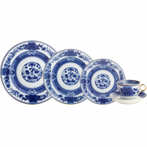 Mottahedeh, Imperial Blue 5 Piece Place Setting