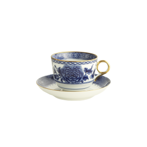 Mottahedeh, Imperial Blue Cup and Saucer