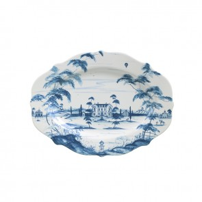"Delft Blue 18.5"" Serving Platter Main House"
