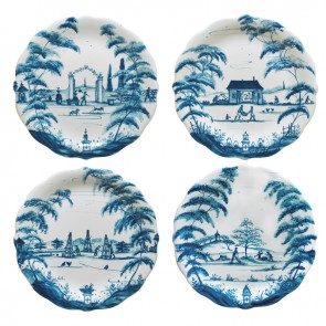 Delft Blue Party Plates Set