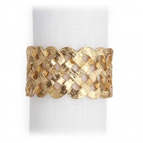 Lobjet, Gold Braid Napkin Ring - Set of 4