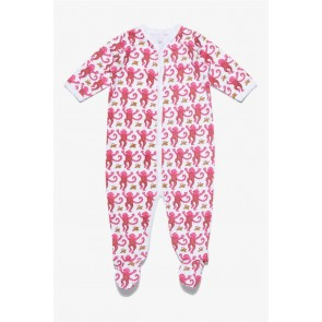 Roberta Roller Rabbit, Monkey Pajama Suit - Pink