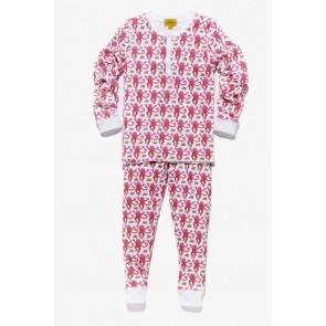 Roberta Roller Rabbit, Monkey Pajama Set - Pink