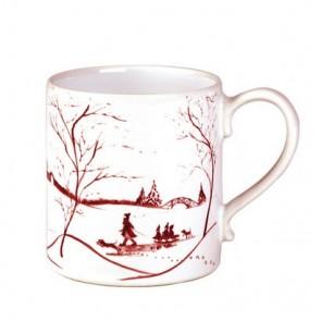 Country Estate Winter Frolic Ruby Mug