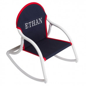 Navy Canvas, Rocking Chair