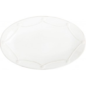 """Berry and Thread Whitewash Oval Platter, 12"""""""