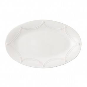Berry and Thread Whitewash Oval Platter, 7.5""