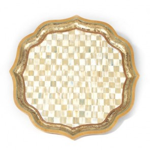 MacKenzie-Childs, Parchment Check Serving Tray