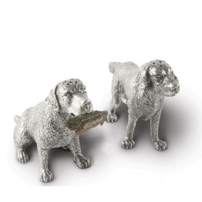 Pewter Hunting Dogs Salt and Pepper Set