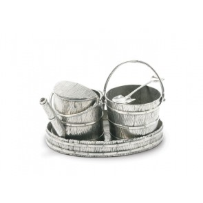Pewter Watering Can Creamer Set