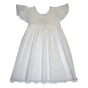 Auraluz, Pinafore White Dress