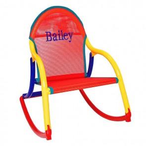 Red Mesh, Rocking Chair