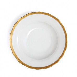 Anna Weatherley, Anna's Golden Patina Rimmed Soup Plate