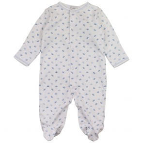 Kissy Kissy Royal Baby Footie, Blue