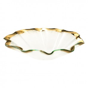 Ruffle Deep Oval Bowl