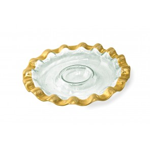 Ruffle Round Chip and Dip Server