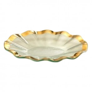 Ruffle Small Oval Tray
