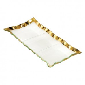 Ruffle Three Section Tray