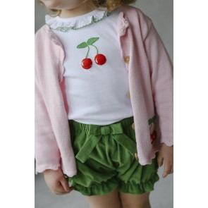 Little English, Corduroy Bow Bloomers - Sage Green