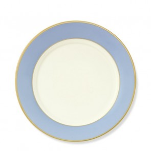 Pickard, Color Burst Blue with Gold Trim Salad Plate