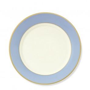 Pickard, Color Burst Blue with Gold Trim Salad Plate