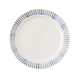 Juliska, Sitio Stripe Indigo Dessert/Salad Plate