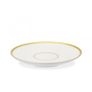 Pickard, Signature Collection Ivory with Gold Trim Tea Saucer
