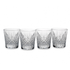 Reed and Barton, Hamilton Crystal 4-piece Double Old Fashioned Glass Set
