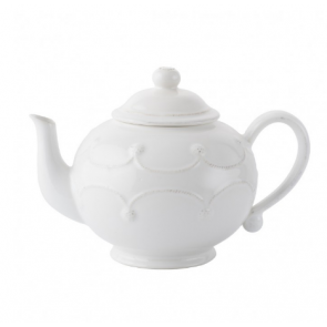 Berry and Thread Whitewash Teapot