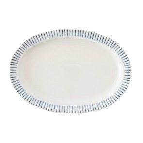 "Juliska, Sitio Stripe Indigo 17"" Serving Platter"