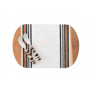 Stonewood Stripe Serving Board and Spreaders