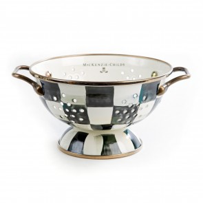 MacKenzie-Childs, Courtly Check Enamel Colander - Small