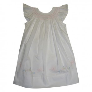 Auraluz, Smocked Dress with Bows
