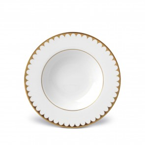 Aegean Filet Soup Plate, Gold