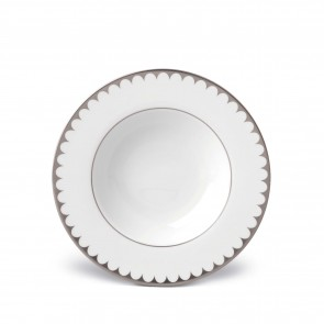 Aegean Filet Soup Plate, Platinum