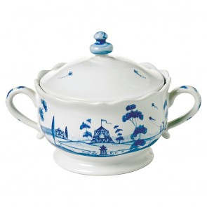 Delft Blue Lidded Sugar/Jam Bowl