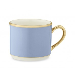 Pickard, Color Burst Blue with Gold Trim Tea Cup