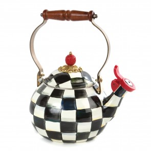 MacKenzie-Childs, Courtly Check Enamel Whistling Tea Kettle