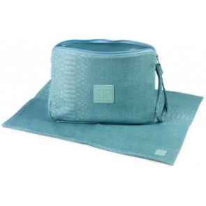 Turquoise Diaper Clutch and Changing Pad Set