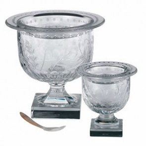 Fern Caviar Server with Spoon